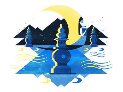 Moon in three pools | 三潭印月