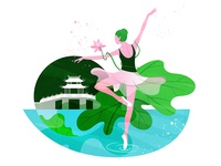 Dancing lotus | 曲院风荷