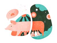 The productive pig mommy | 高产似母猪