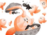 Kirby Sesame mochi!! | 麻心汤圆