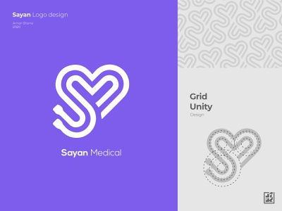Sayan Medical Logo Design 2020 logo 2020 logos medical logo design process branding logotype logo design services logo design branding pattern design lovely love love logo logo design purple purple logo heart logo design logo arman shamsi logodesign