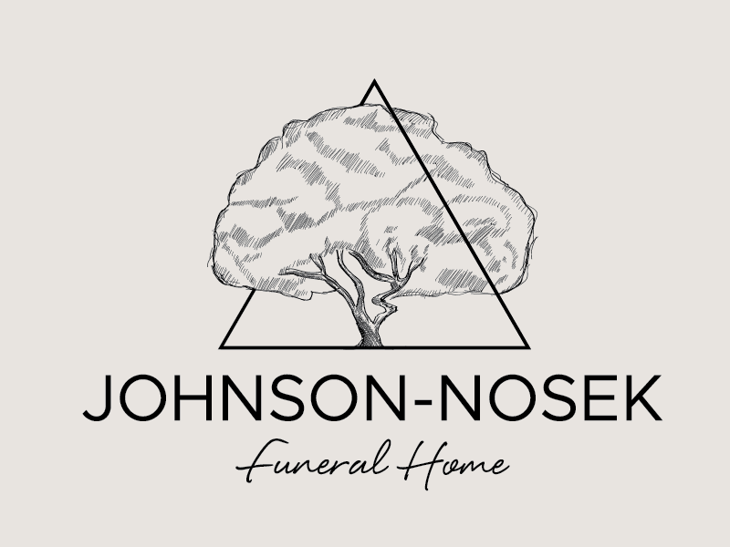 Funeral home logo detailed drawing hand-drawn funeral-and-cremation triangle tree vintage
