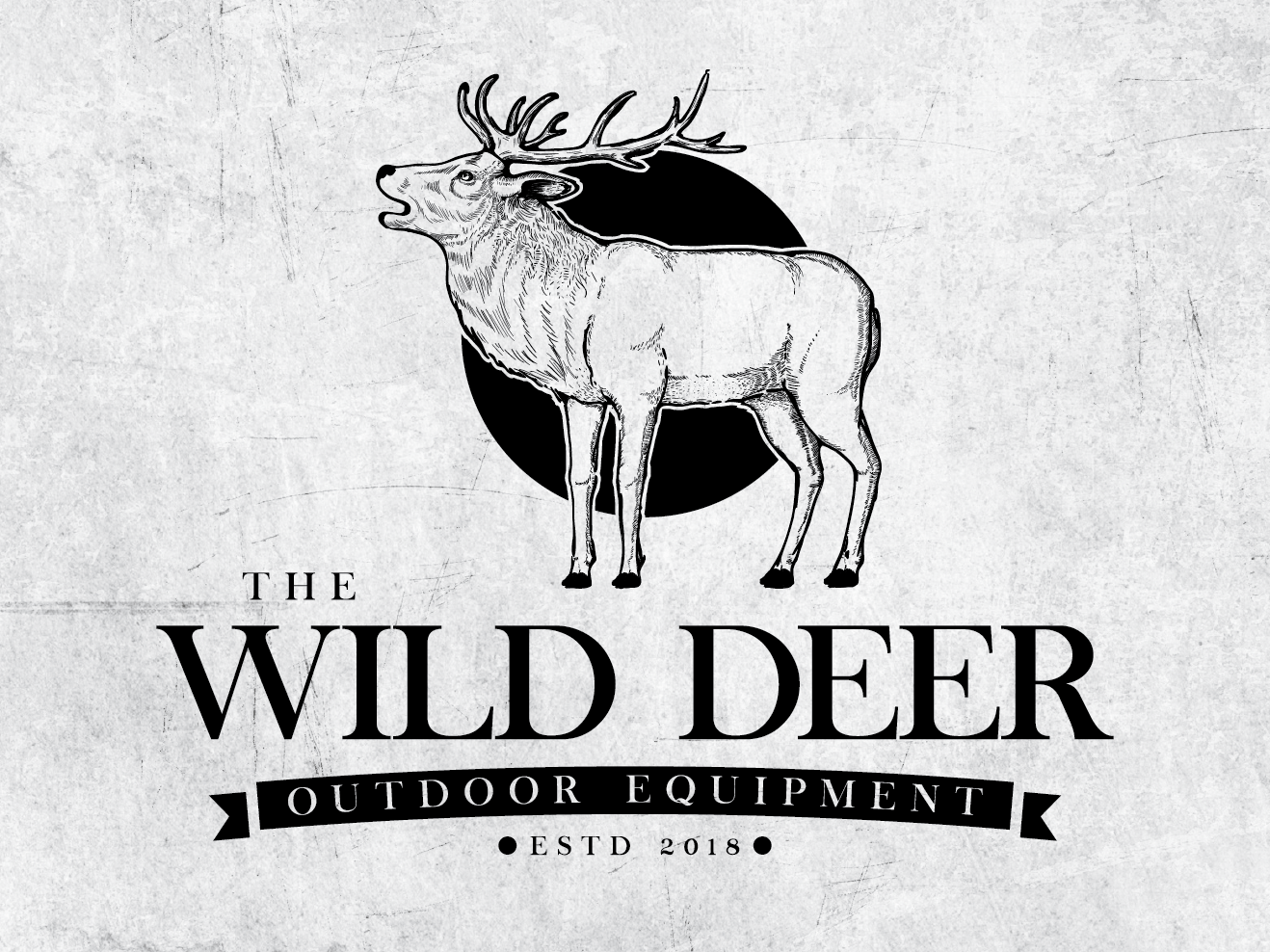 Wild Deer outdoor deer nature simple logo illustration detailed hand-drawn vintage drawing