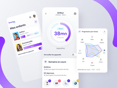 Scoolup - Time screen app