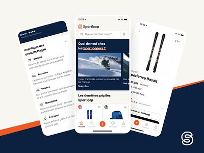 Sportloop - Mobile app ui clean figma mobile app design ui mobile uidesign uiux startup bootnow beige blue orange sports branding sports design sport app mobile app