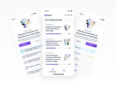 Klutsch - Mobile App questions test purple bootnow mobile app ui ux ui
