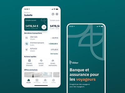 Tikker - Banking mobile App branding startup figma cards ui cards bank app bankingapp premium clean ui orange bootnow satrtup fintech banking clean mobile app green