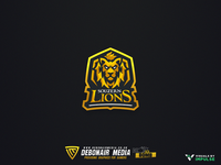 Golden Lion Mascot Logo