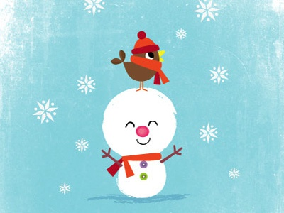 Amy cartwright snowman bird