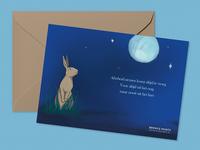 condolences postcard