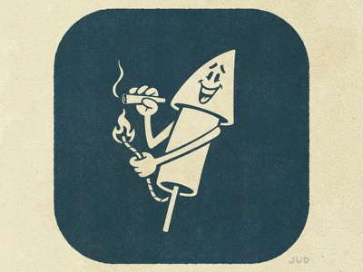 JULY (1 of 3) - Blast Off joint character design character vintage mascot blast off marijuana canabis firecracker fireworks craft beer beer design package design branding illustrator icon logo vector illustration