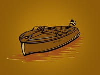 Chris Craft Boat for Austin Brothers' Woody Wheat Beer