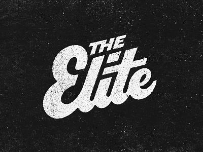 The Elite Hand Lettering jud lively elite awe distressed texture hand drawn hand lettering handlettering branding logo design typography lettering