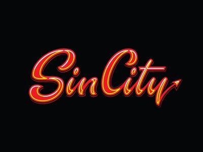 Sin City Open - Handlettering