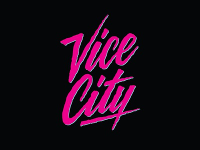 Vice City - Handlettering