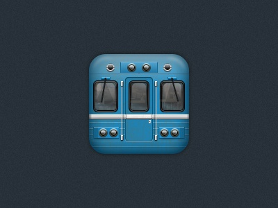 Subway icon for iOS icon ios metro subway metropolitain iphone ipad retina train