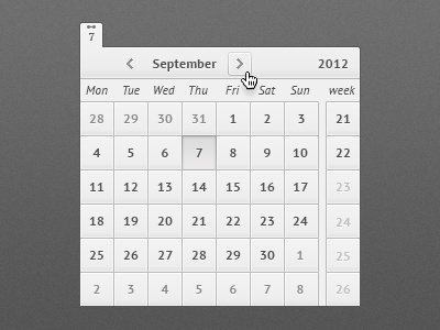 Another free calendar freebie free psd calendar agenda day week ui form button