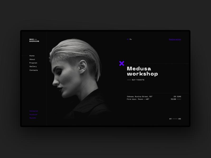 Medusa minimal website web ux ui typography