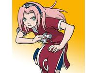 Drawing Sakura from Naruto