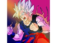 Drawing Goku from  Dragonball