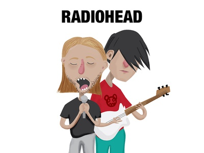 Radiohead thom yorke painting graphic digitalpaint character illustration radiohead