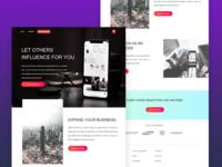 UI design for an influencer marketing website