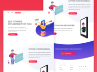 Another design for influencer marketing webpage