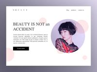 Minimal fashion webpage concept