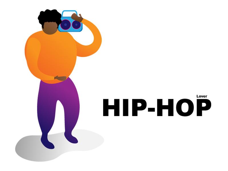 Hip-Hop Lover dance music hillsong adobe illustrate illustrator illustrative hip hop hiphop design character illustration