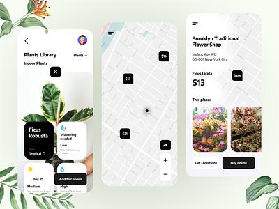 Botanic. Plants Library App 🌱 library garden flowers plants ux design app best design challenge ui  ux daily ui user interface ui design ui