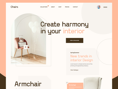 Modern Furniture Web Design modern sofa chair armchair furniture webdesign web design website web