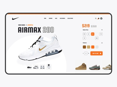 Nike Website Redesign Concept