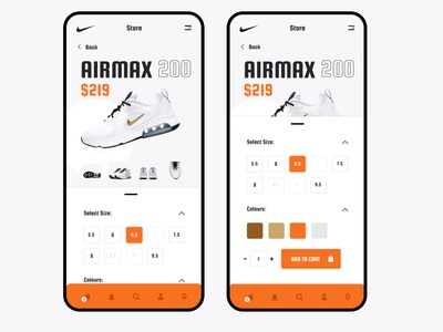 Nike Website Mobile Concept