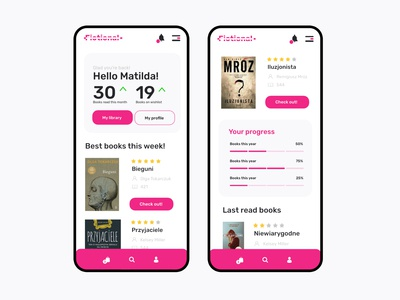 Daily UI #8 Online Library Mobile