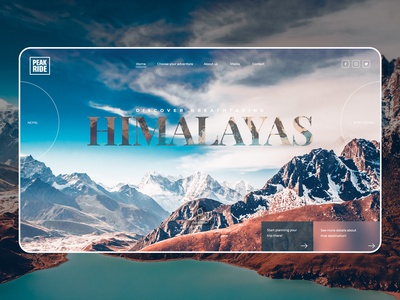 Mountain Trips Website Concept 2