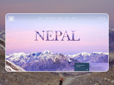 Mountain Trips Website Concept 3