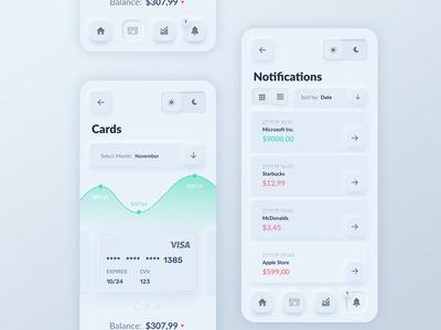 Skeuomorph Banking App Light Mode