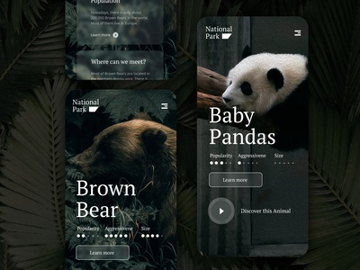 Daily UI #10 National Park Mobile