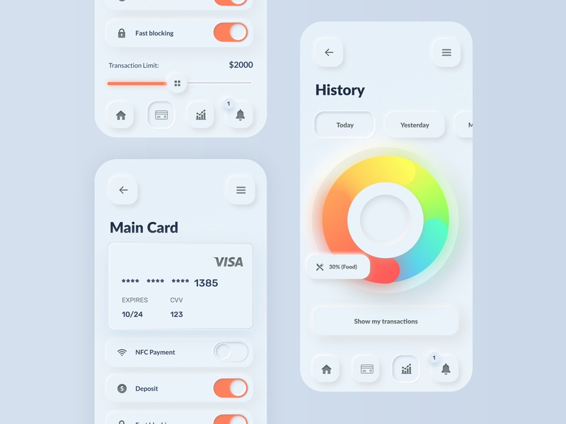 Skeuomorph Banking App best design daily ui ui ui  ux banking app mobile user interface ui design skeuomorphism skeuomorphic skeuomorph app design app bank app bank banking
