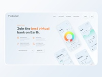 Skeuomorph Banking App Website