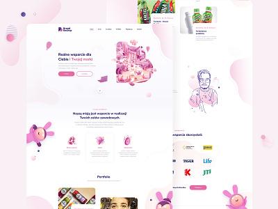 Creative Agency Website Concept purple violet pink daily ux  ui ui ui  ux ui design user interface web web design best designs challenge daily ui website concept concept creative agency agency website website agency