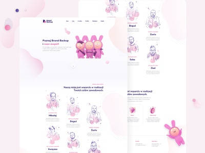 Creative Agency Website Concept design user interface purple pink web website ui design ui ux ui daily ui challenge daily ui dailyui challenge best designs best design creative agency agency website agency