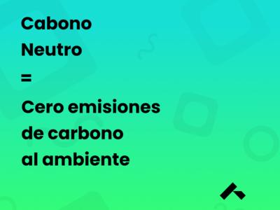 Pieza gráfica - Carbono neutro