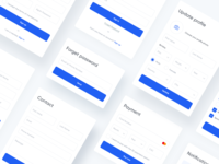 Components Ui Kit components light ui kit sign in signup forms interface adobe web xd design online ux ui