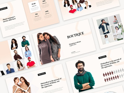 Modern Fashion Presentation Templates template design template layout exploration layout design layout model slide design modern fashion google slides keynote presentation design presentation powerpoint