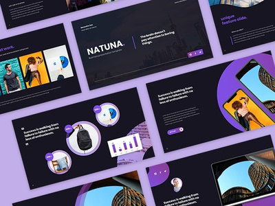 Natuna - Business Presentation Template uiux ux ui google slides design layout creative presentation design presentation business pptx powerpoint