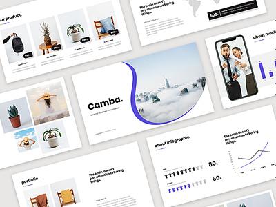 Camba - Minimal Presentation Template modern minimal clean uiux ui ppt keynote google slides business pptx presentation design presentation layout creative powerpoint