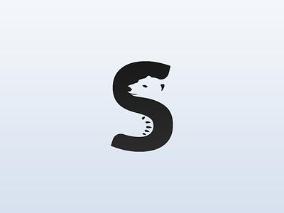 Bear + S logo concept vector brand logotype negative space logo monogram logos logo design bear letter s illustration identity design branding brand identity logo negative space