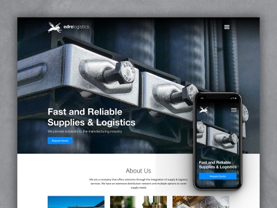 Homepage - Edre Logistics mobile ui mobile landing page iphone digital dailyui corporate clean adobe xd design website web ux ui