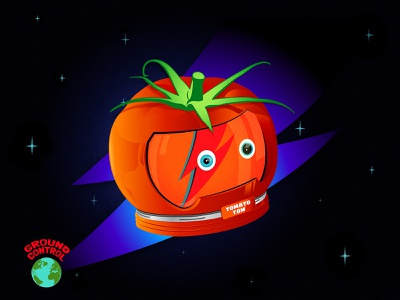 Bowie Space Oddity tomato bowie vector music illustrator drawing digital blue oddity space design character david bowie illustration